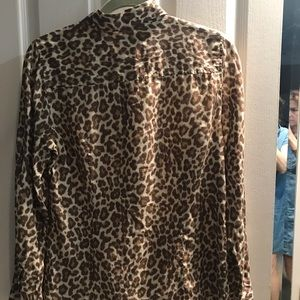 J Crew leopard 🐆 Perfect Shirt, size 8